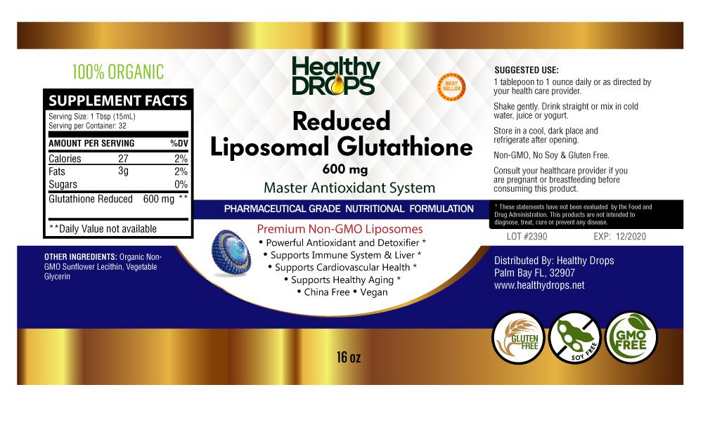 Liposomal Glutathione 600 Mg Non-GMO 16 Oz