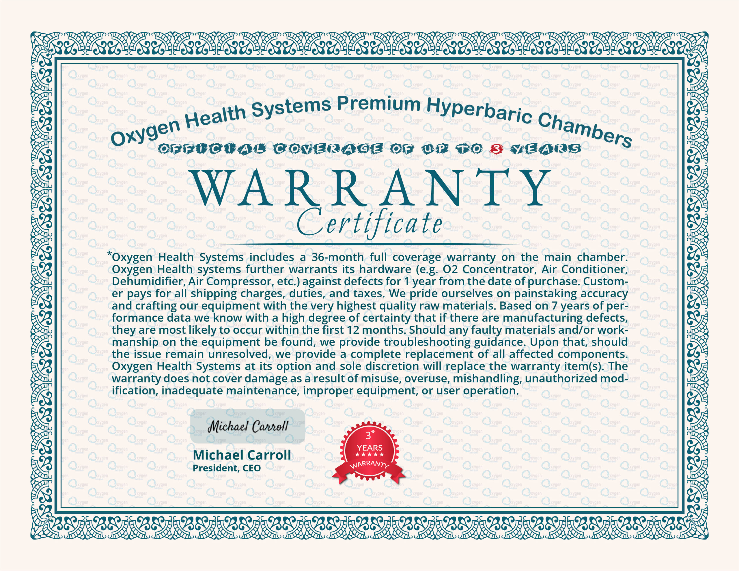 Warranty_Certificate Up to 3 Years