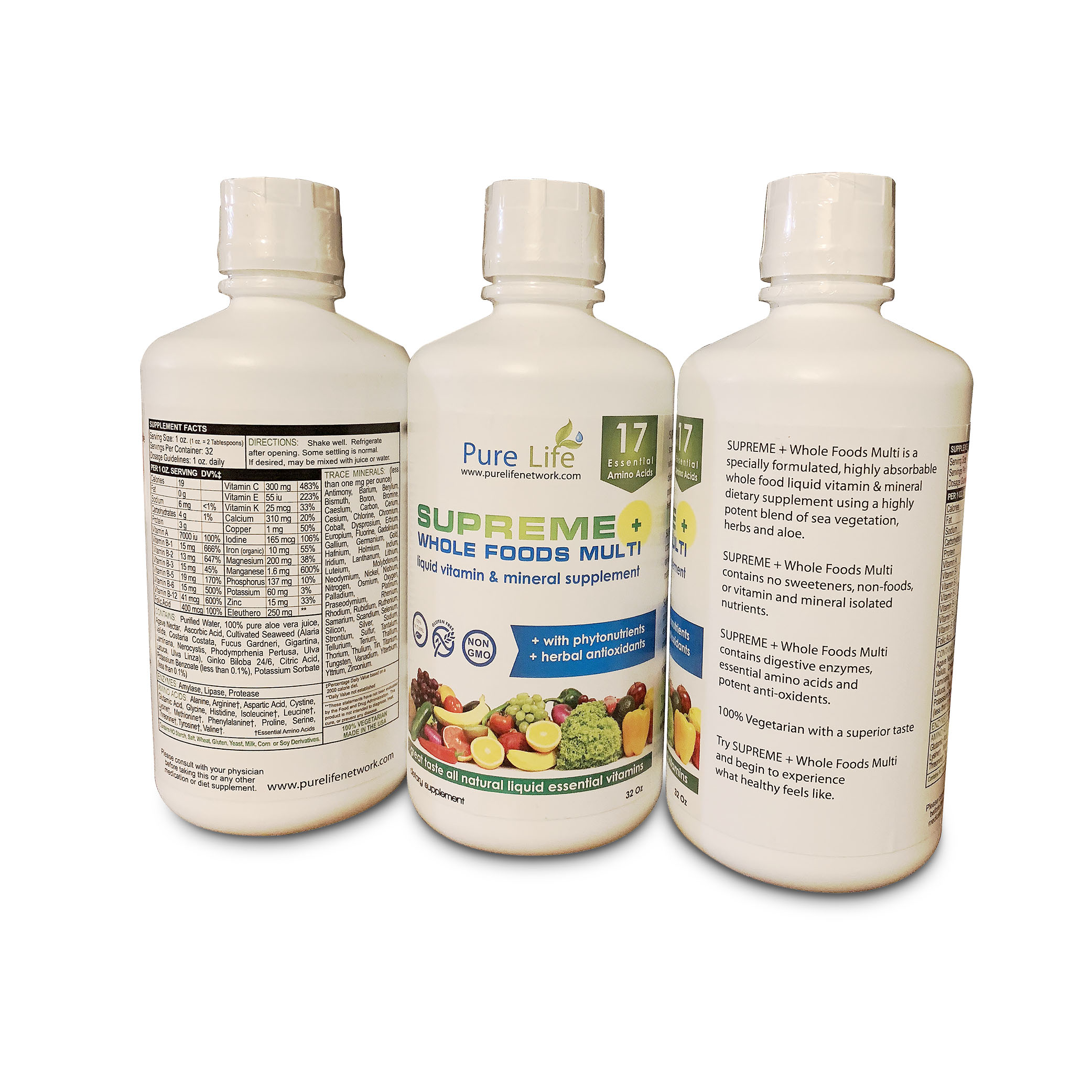 SUPREME+ Whole Foods Multi Liquid Vitamin and Mineral Supplement