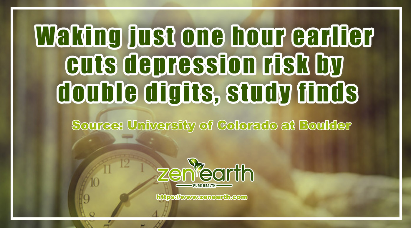 Waking just one hour earlier cuts depression risk by double digits, study finds